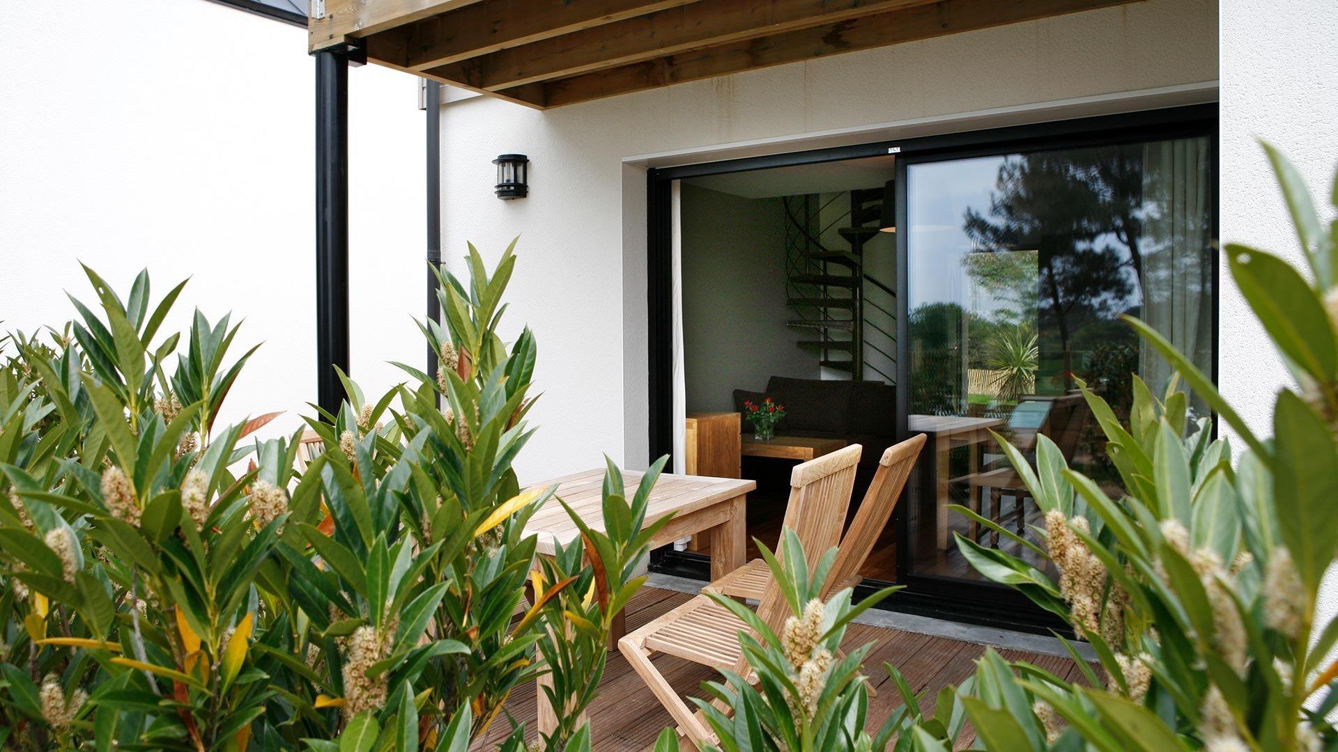Terrasse rez de chaussée duplex