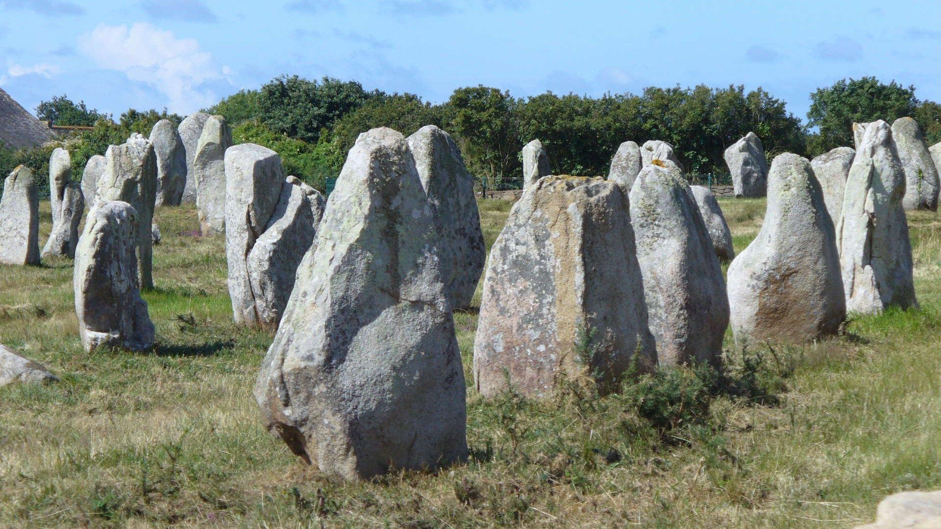 Les mégalithes  de Carnac